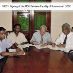 signing of the MOU between faculty of science and UCSC
