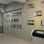 photos displayed on museum wall
