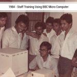 staff training using BBC micro computers
